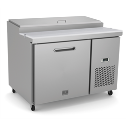 Refrigeration Equipment<br>Pizza Preparation Table, 1 Door with 6GN 1/3 containers - Stainless Steel (R290)
