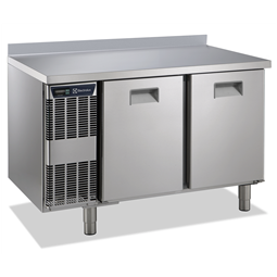 Digital Undercounter2 Door Refrigerated Counter with Splashback, -2+10°C, Full AISI 304