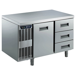 Digital Undercounter1 Door + 3 1/3 Drawer Refrigerated Table -2+10°C, Full AISI 304