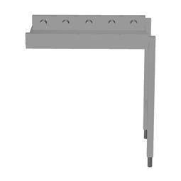 Handling systeem voor afwasmachineRollenbaan, korte rollen, 800 mm