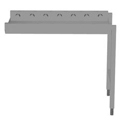 Handling systeem voor afwasmachineRollenbaan, korte rollen, 1000 mm