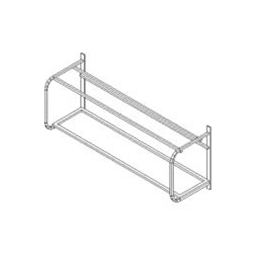 AccessoriesWall mounted shelf for 3 baskets 1680mm