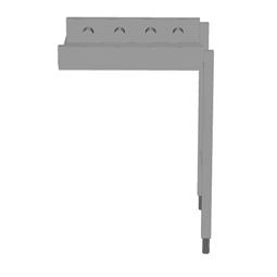 Handling systeem voor afwasmachineRollenbaan, korte rollen, 600 mm