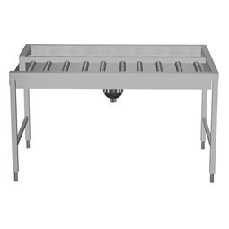 Manipulační stoly k tunelovým košovým myčkámManuální příjmový/třídící stůl na 3 koše, L>P, 1620mm, napojení vpravo ze strany