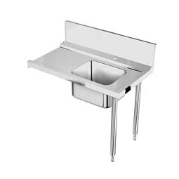 Handling systeem voor afwasmachineAanvoertafel voor korventransportmachine rechts > links, spoelbak, 1200 mm