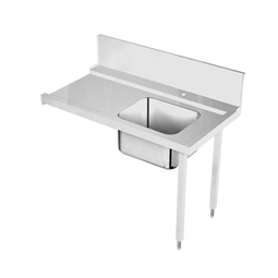 Handling systeem voor afwasmachineAanvoertafel voor korventransportmachine rechts > links, spoelbak, 1300 mm