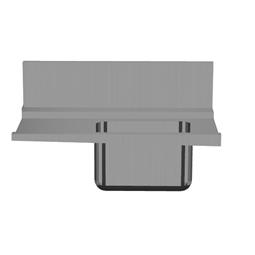 Handlingsystem für KorbtransportmaschinenVorspültisch-Einhängeplatte mit Becken