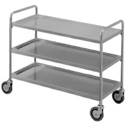 Service TrolleysThree Tier Service Trolley with Handle 1200 mm