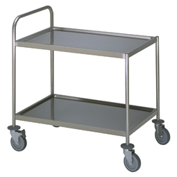 Meal Distribution System2 Tier Service trolley with 1 handle 600x800mm