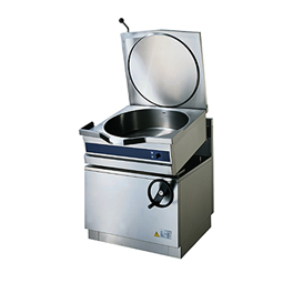 High Productivity CookingElectric Tilting Round Bratt Pan, 60lt Tap and Compound Bottom
