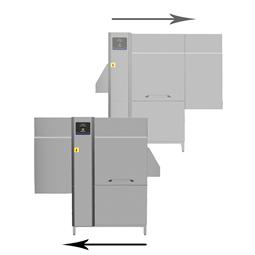 DishwashingSingle rinse Rack Type dishwasher with Medium dryer, 100racks/hour, Electric, 50Hz
