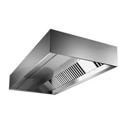 Ventilation304 S/S Hotte adossée 2400X1100mm
