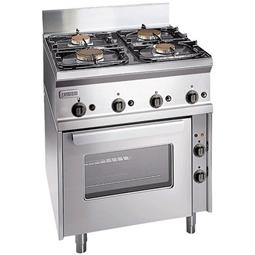 Modular Cooking<br>4 brännare med gasugn (2,2 kW). OBS: EJ GODKÄND FÖR STADSGAS. Inkl. 1st galler och 1st kantin 440x38