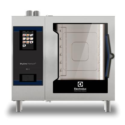 SkyLine PremiumSElectric Combi Oven 6GN1/1, left hinged door, Green Version