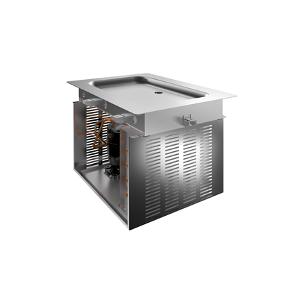 Drop-In<br>Drop-in refrigerated stainless steel surface (1 GN container capacity)