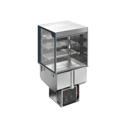 Drop-InDrop-in refrigerated well with refrigerated display, squared, medium service - 4 hours - 2GN