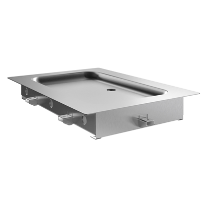 Drop-In<br>Drop-in remote refrigerated stainless steel surface (1 GN container capacity)
