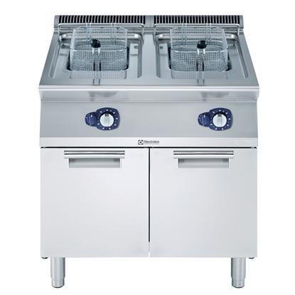 Modulaire bereidingsapparatuur700XP Friteuse 2x 15 lt, gas 28 kW, externe branders