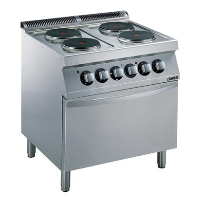 Gamma cottura modulare<br>EVO700 Cucina elettrica 4 piastre su forno elettrico