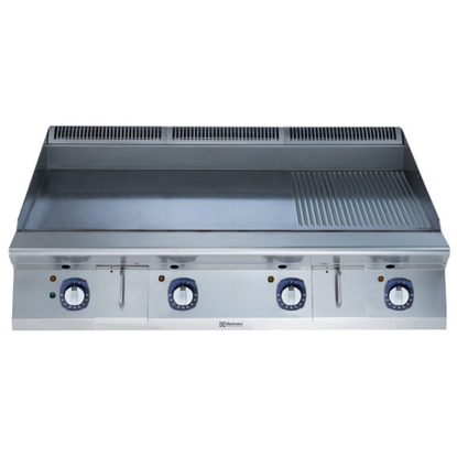 Modular Cooking Range Line900XP 1200mm Electric Fry Top HP, Smooth and Ribbed scratch resistant chromium Plate
