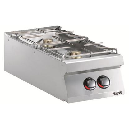 Modular Cooking<br>Gasspis. Bänkmodell. 400mm. 2 öppna brännare (2x6kW), gasoldysor bifogas
