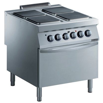 Modular Cooking Range Line<br>EVO900 4-Electric Hot Plate Range on Electric Oven