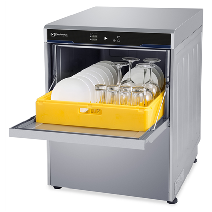 WarewashingUndercounter Dishwasher Insulated with pressure boiler drain pump, rinse aid & detergent dispensers