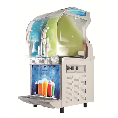 FrozenFrozen granita dispenser with 2 bowls, mechanical control and lighted panel
