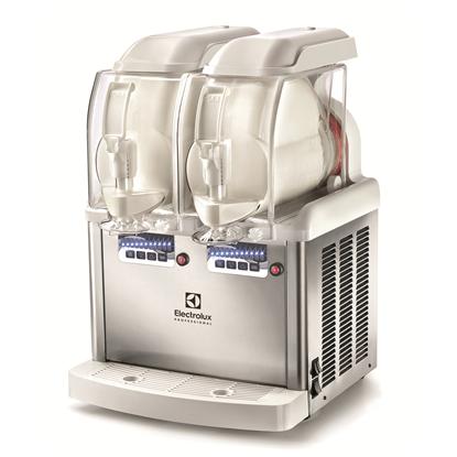 Slush, cold creams & mjukglassBehållare för slush, frozen cream och mjukglass med 2 isolerade 5-liters behållare