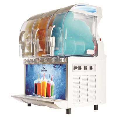 FrozenFrozen granita dispenser with 3 bowls, mechanical control and lighted panel