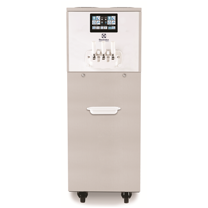 Soft ServedRoma Soft Ice Cream Dispenser, 2 flavours+1mix, electr.control&touch panel, 550cones/h-gravity