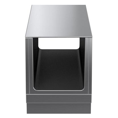 Modular Cooking Range Linethermaline 80 - 500 mm Passthrough open base, GN conform, 2 Sides (H2) - H=450