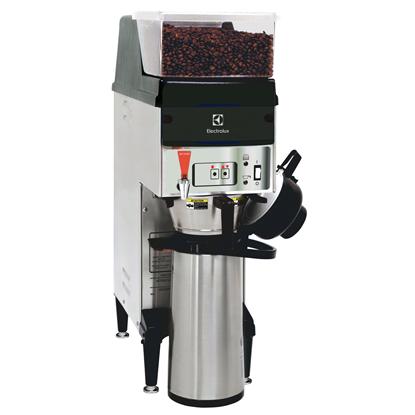 Koffie systemenKoffiezetapparaat met koffiemolen, enkele bonencontainer, 1 filterhouder, voor 1 airpot