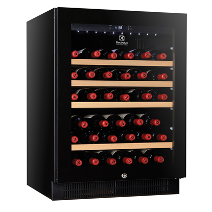 Digital Cabinets1 Glass Door Wine Refrigerator, 50 bottles, black with variable speed compressor