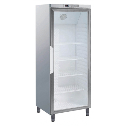 Digital Cabinets400lt Line Refrigerator 1 Glass Door - Stainless steel (R600a)