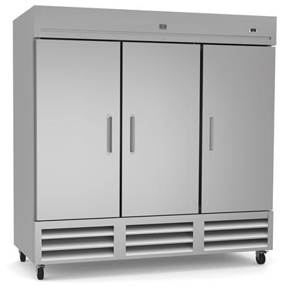 Refrigeration Equipment<br>Reach-In Refrigerator, 3 Door, 72 cu.ft - Stainless Steel (R290)