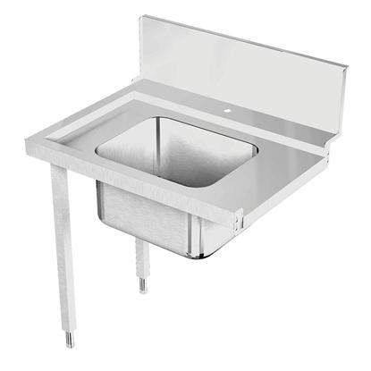 Handling systeem voor afwasmachineAanvoertafel voor korventransportmachine links > rechts, spoelbak, 900 mm