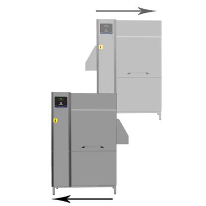 WarewashingSingle rinse Rack Type dishwasher, 100 racks/hour, electric