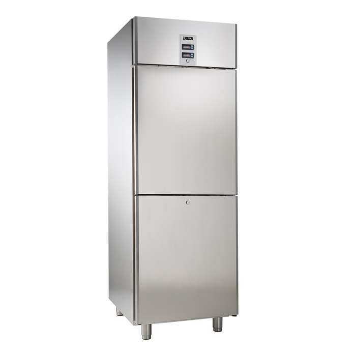 NAU Maxi<br>Frigo digitale 670 litri combinato, 2 mezze porte, -2+10/-2+10°C, AISI 304, gas R290