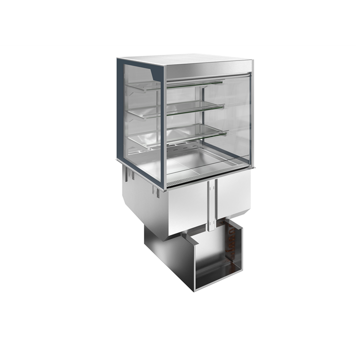 Drop-In<br>Drop-in refrigerated well with refrigerated display, squared, medium service - 4 hours - 2GN