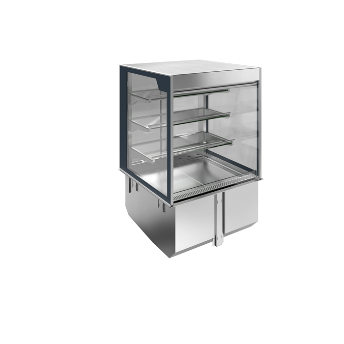 Drop-In<br>Drop-in remote refrigerated well with refrigerated display, squared, medium service - 4 hours - 2GN