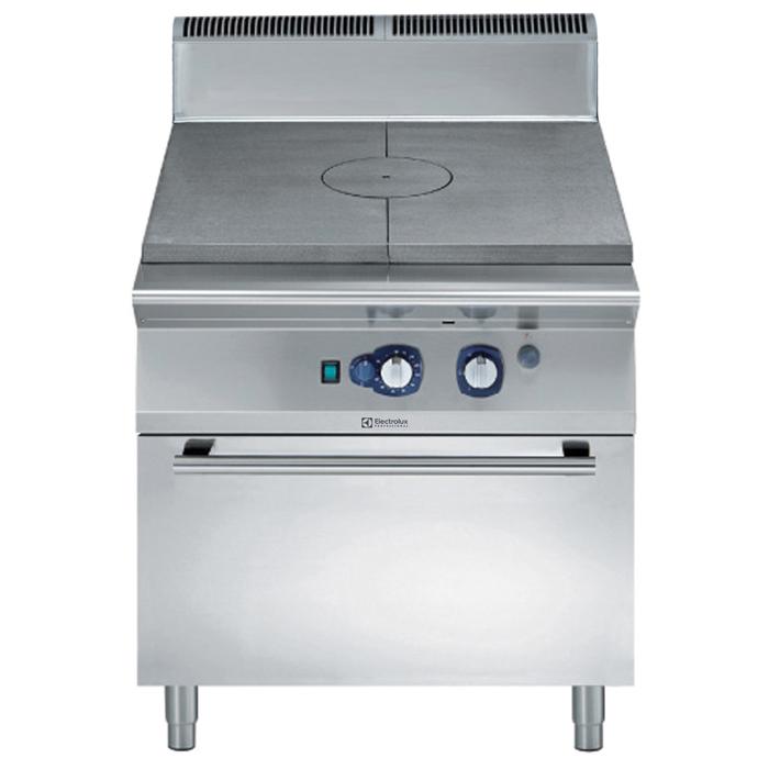 Gamma cottura modulare<br>900XP Tuttapiastra a gas su forno convezione a gas