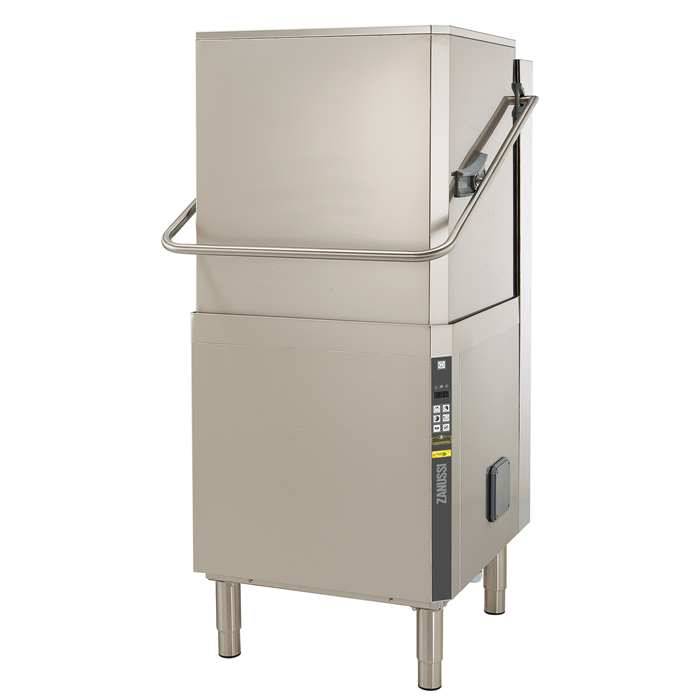 Warewashing<br>Hood Type Dishwasher, Single Skin with Rinse-aid Dispenser, pre-arranged for solid detergent