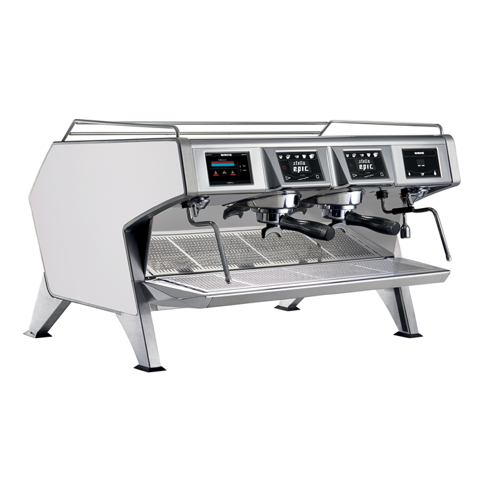 Coffee System<br>Multi-boilers espresso machine, white, 2 groups, 2x1.65l boilers for coffee with Dosamat