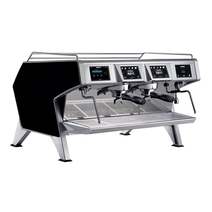 Coffee System<br>Multi-boilers espresso machine, black, 2 groups, 2x1.65l boilers for coffee, 4 dosing program