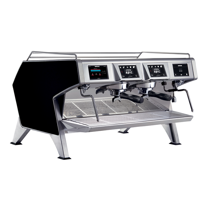 Coffee System<br>Multi-boilers espresso machine, black, 2 groups, 2x1.65l boilers for coffee with Dosamat