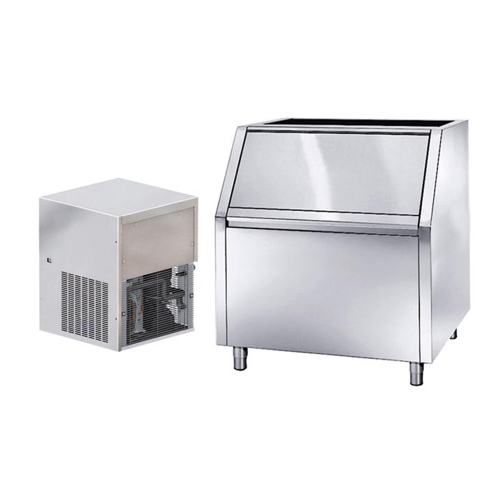 Produttori di ghiaccio<br>Produttore di ghiaccio in granuli 280 kg./24h - raffreddamento ad aria - con contenitore da 200 kg