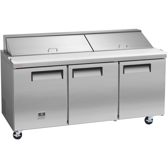 Digital Cabinets<br>Sandwich/Salad Preparation Table, 18 cu.ft - Stainless Steel