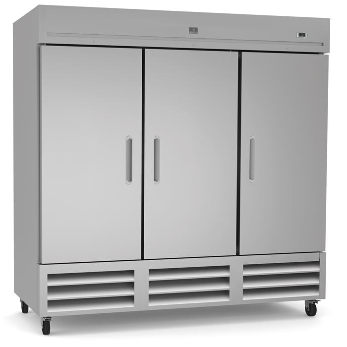 Refrigeration Equipment<br>Reach-In Freezer, 3 Doors, 72 cu.ft - Stainless Steel