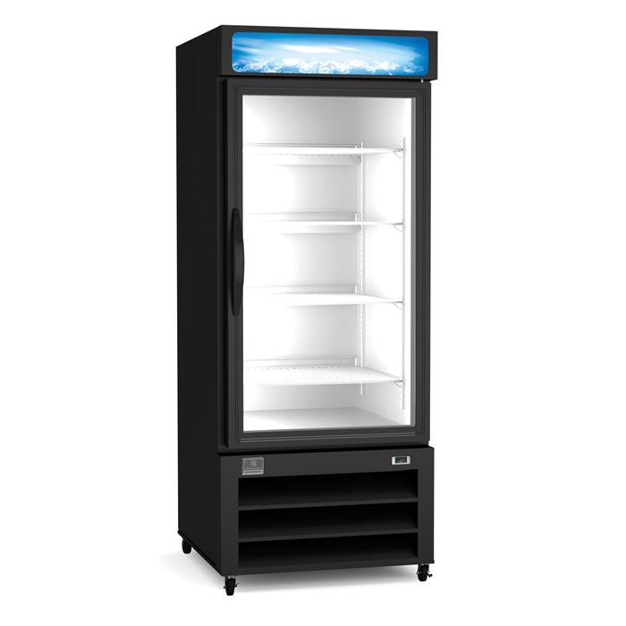 Refrigeration Equipment<br>Merchandiser Refrigerator, 12 cu.ft - 1 Glass Door, black (R290)